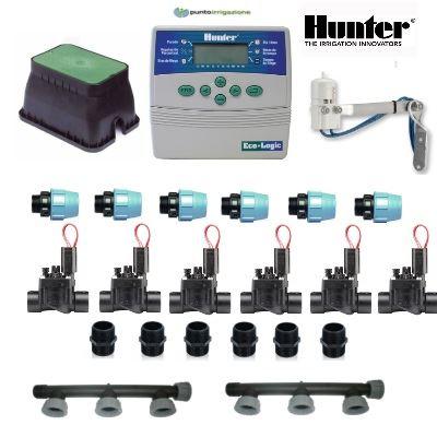Kit irrigazione kit hunter 6 zone for Programmatore di irrigazione